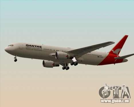 Boeing 767-300ER Qantas (Old Colors) pour GTA San Andreas sur la vue arrière gauche