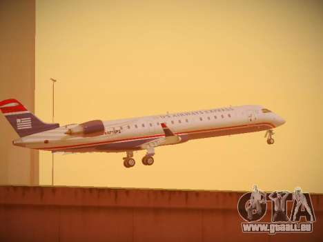 Bombardier CRJ-700 US Airways Express für GTA San Andreas obere Ansicht