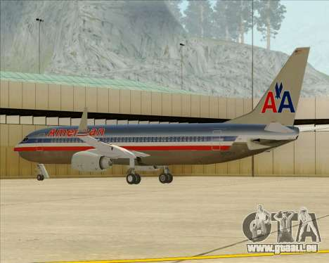 Boeing 737-800 American Airlines pour GTA San Andreas roue