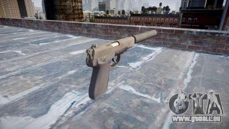 Pistolet QSZ-92 silencieux pour GTA 4 secondes d'écran