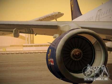 Airbus A321-232 Cyprus Airways pour GTA San Andreas roue