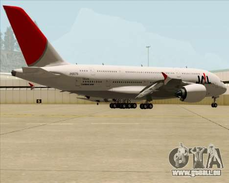Airbus A380-800 Japan Airlines (JAL) für GTA San Andreas Innenansicht