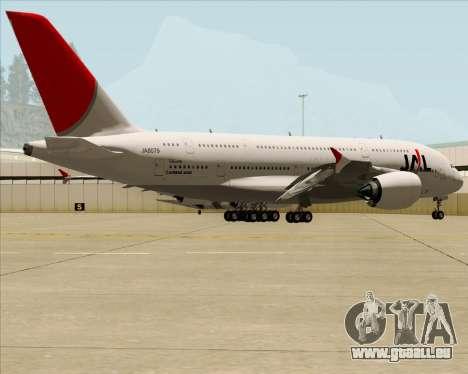 Airbus A380-800 Japan Airlines (JAL) pour GTA San Andreas vue intérieure