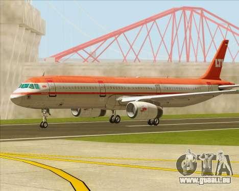 Airbus A321-200 LTU International pour GTA San Andreas vue de côté