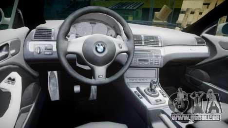 BMW M3 E46 2001 Tuned Wheel White pour GTA 4 Vue arrière