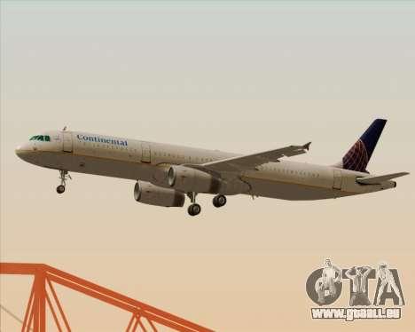 Airbus A321-200 Continental Airlines pour GTA San Andreas vue arrière