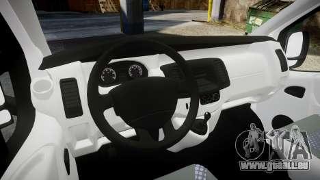 Renault Trafic Police Nationale pour GTA 4 Vue arrière