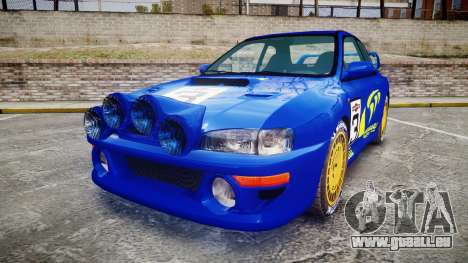 Subaru Impreza WRC 1998 Rally v2.0 Yellow pour GTA 4