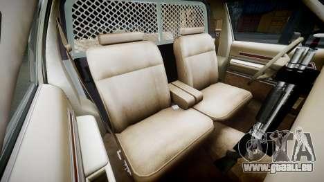 Ford LTD Crown Victoria 1987 Police CHP1 [ELS] pour GTA 4 est une vue de l'intérieur