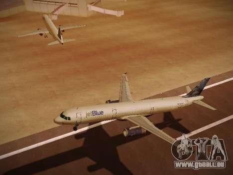 Airbus A321-232 jetBlue Do-be-do-be-blue pour GTA San Andreas vue de côté