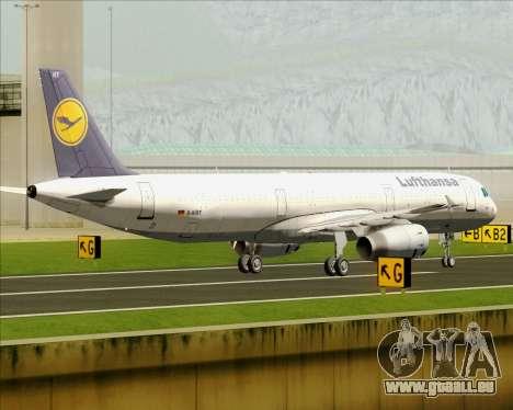 Airbus A321-200 Lufthansa pour GTA San Andreas vue intérieure