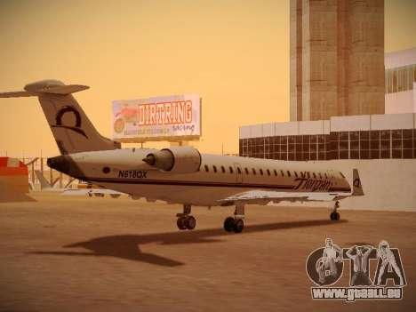Bombardier CRJ-700 Horizon Air pour GTA San Andreas vue de dessus