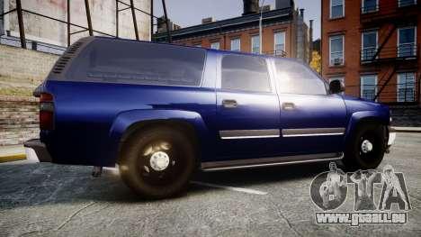 Chevrolet Suburban Undercover 2003 Grey Rims pour GTA 4 est une gauche