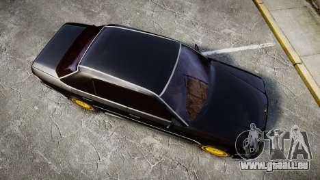 Mercedes-Benz E500 1998 Tuned Wheel Gold pour GTA 4 est un droit