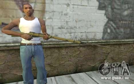 Mosin-v15 pour GTA San Andreas troisième écran