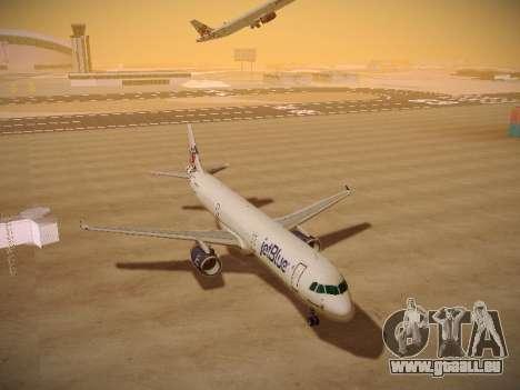 Airbus A321-232 jetBlue I love Blue York pour GTA San Andreas vue arrière