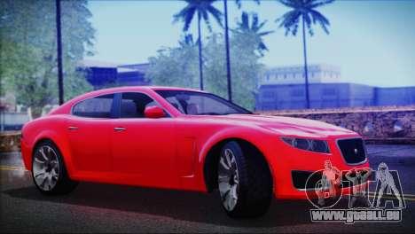Lampadati Felon pour GTA San Andreas sur la vue arrière gauche