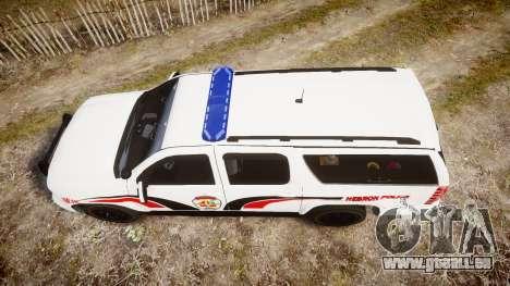 Chevrolet Suburban 2008 Hebron Police [ELS] Blue pour GTA 4 est un droit