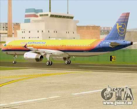 Airbus A321-200 Air Jamaica für GTA San Andreas Rückansicht