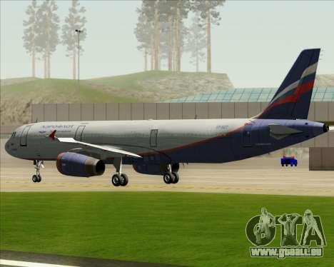 Airbus A321-200 Aeroflot - Russian Airlines pour GTA San Andreas vue de côté