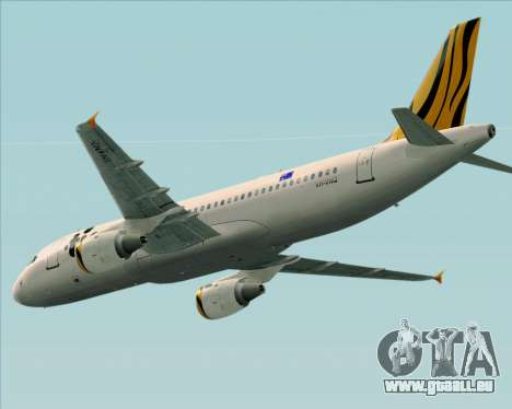 Airbus A320-200 Tigerair Australia pour GTA San Andreas vue intérieure