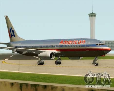Boeing 737-800 American Airlines für GTA San Andreas Seitenansicht