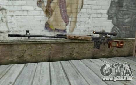 Fusil De Sniper Dragunov pour GTA San Andreas