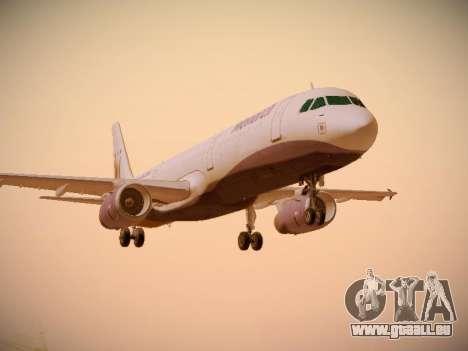 Airbus A321-232 Monarch Airlines für GTA San Andreas linke Ansicht