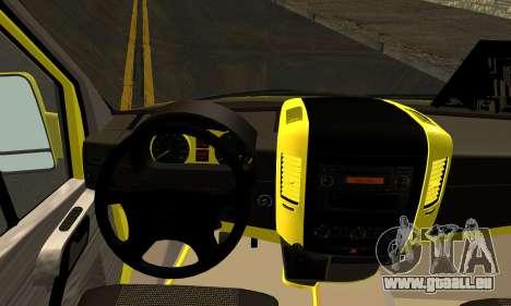 Mercedes-Benz Sprinter Eyüp Abgelaufen für GTA San Andreas zurück linke Ansicht