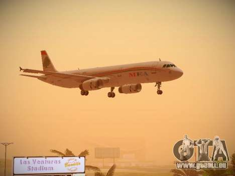 Airbus A321-232 Middle East Airlines pour GTA San Andreas vue intérieure