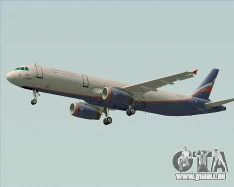 Airbus A321-200 Aeroflot - Russian Airlines für GTA San Andreas zurück linke Ansicht