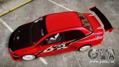 Mitsubishi Lancer Evolution IX Fast and Furious pour GTA 4 est un droit
