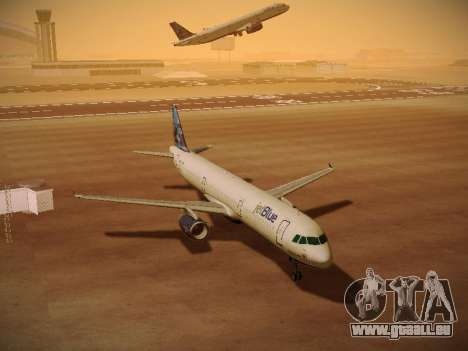 Airbus A321-232 jetBlue Do-be-do-be-blue für GTA San Andreas obere Ansicht