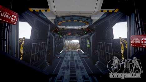 VTOL Warship PJ1 pour GTA 4 Vue arrière