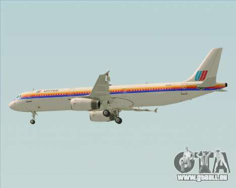 Airbus A321-200 United Airlines für GTA San Andreas Motor