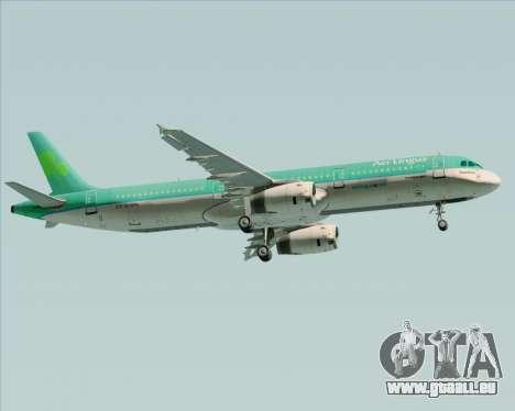 Airbus A321-200 Aer Lingus für GTA San Andreas Rückansicht