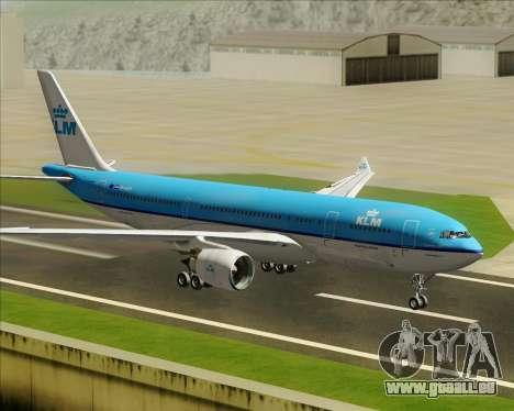 Airbus A330-200 KLM - Royal Dutch Airlines pour GTA San Andreas vue intérieure