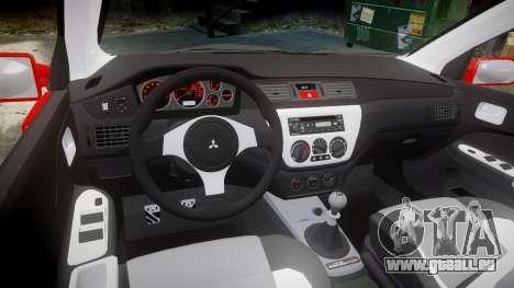 Mitsubishi Lancer Evolution IX Fast and Furious pour GTA 4 est une vue de l'intérieur