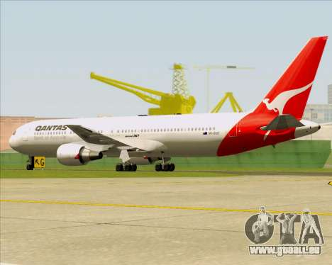 Boeing 767-300ER Qantas (Old Colors) für GTA San Andreas Rückansicht