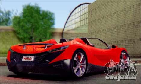 Specter Roadster 2013 pour GTA San Andreas laissé vue