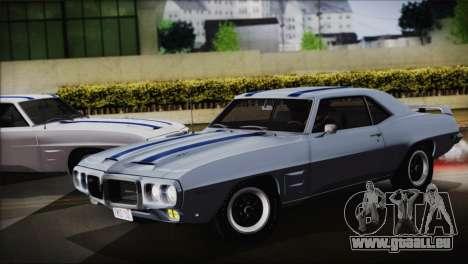Pontiac Firebird Trans Am Coupe (2337) 1969 pour GTA San Andreas