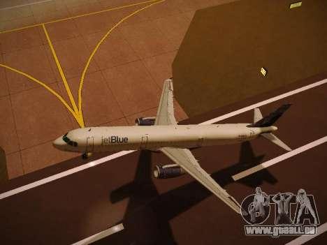 Airbus A321-232 jetBlue Whole Lotta Blue für GTA San Andreas Seitenansicht