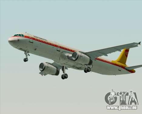 Airbus A321-200 Continental Airlines für GTA San Andreas Innenansicht