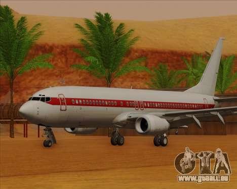 Boeing 737-800 EG&G - Janet pour GTA San Andreas laissé vue