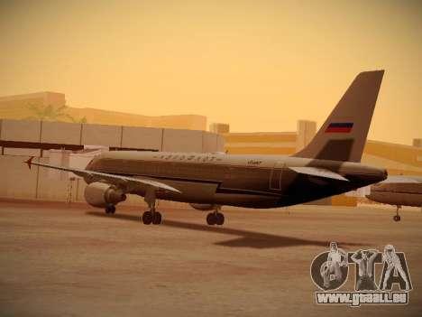 Airbus A320-214 Aeroflot Retrojet pour GTA San Andreas vue de droite