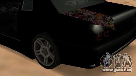 Elegy pour GTA San Andreas vue arrière