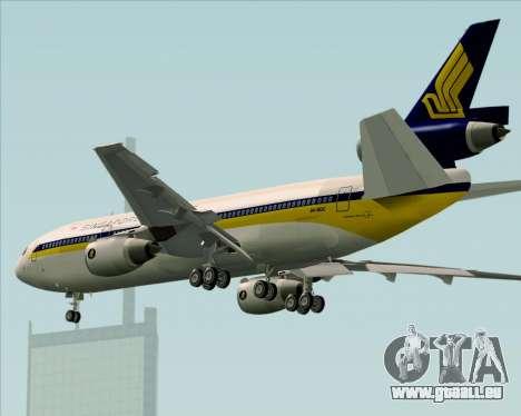 McDonnell Douglas DC-10-30 Singapore Airlines pour GTA San Andreas vue de dessus