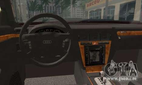 Audi A8 pour GTA San Andreas sur la vue arrière gauche