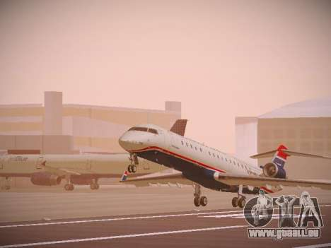 Bombardier CRJ-700 US Airways Express für GTA San Andreas linke Ansicht