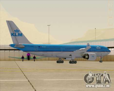 Airbus A330-200 KLM - Royal Dutch Airlines pour GTA San Andreas roue
